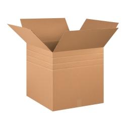 "Office Depot® Brand Multi-Depth Corrugated Cartons, 20"" x 20"" x 20"", Scored 18"", 16"", 14"", Kraft, Pack Of 10"