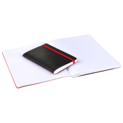 """Black n' Red™ Stitched Business Journal, 5 3/4"""" x 8 1/4"""", Ruled, 142 Pages (71 Sheets), Black"""