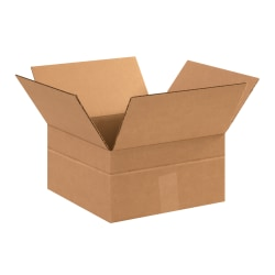 "Office Depot® Brand Multi-Depth Corrugated Cartons, 12"" x 12"" x 6"", Scored 4"", Kraft, Pack Of 25"