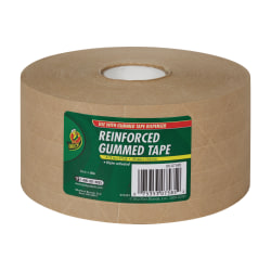 "Duck® Reinforced Kraft Gummed Paper Tape, 2 3/4"" x 125 Yd."