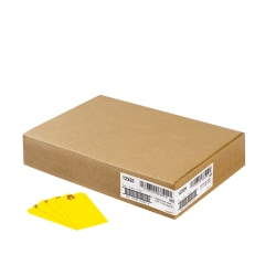 """Avery® Colored Shipping Tags - 4.75"""" Length x 2.37"""" Width - 1000 / Box - Yellow"""