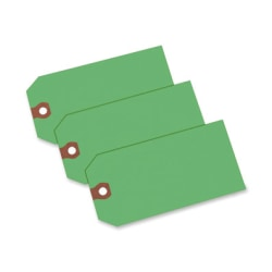 """Avery® Colored Shipping Tags - 4.75"""" Length x 2.37"""" Width - Rectangular - 1000 / Box - Green"""