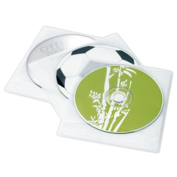 Ativa® Brand 2-Sided CD Sleeves, 200 Capacity, Pack Of 100