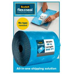 "Scotch® Flex & Seal Shipping Roll, 15"" x 200', Light Blue"