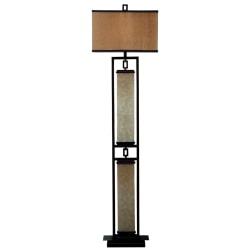 Kenroy Plateau Floor Lamp, Oil-Rubbed Bronze/Gold
