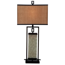 Kenroy Plateau Table Lamp, Bronze/Gold