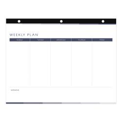 "Blueline® 52-Week Desk Pad Calendar, 11"" x 8-1/2"", Undated"