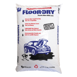 Floor-Dry Diatomaceous Earth Oil Absorbent, 25 lb Bag