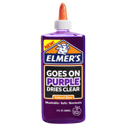 Elmer's® Disappearing School Glue, Purple, 9 Oz