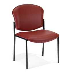 OFM Manor Series Anti-Microbial Anti-Bacterial Guest Reception Chair, Wine/Black