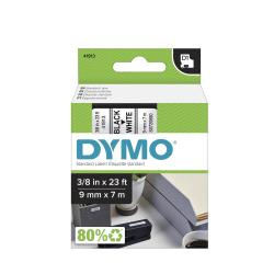 """DYMO® D1 41913 Black-On-White Tape, 0.38"""" x 23'"""