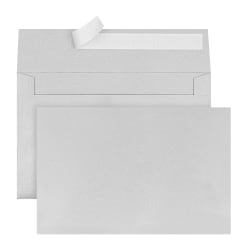 """Office Depot® Brand Greeting Card Envelopes, A9, Clean Seal, 5 3/4"""" x 8 3/4"""", Silver Pearl, Box Of 25"""