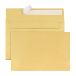 Office Depot® Brand Greeting Card Envelopes, A9, Clean Seal, Gold Pearl, Box Of 25