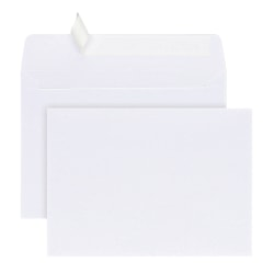 Office Depot® Brand Greeting Card Envelopes, A7, Clean Seal, White, Box Of 25