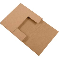 """Office Depot® Brand Easy Fold Mailers, 7 1/2"""" x 7 1/2"""" x 2"""", Kraft, Pack Of 50"""