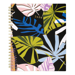 """Cambridge® Lillian Farag Paper Palms 8-1/2"""" x 11"""" Weekly/Monthly Planner, Multicolor, January to December 2020, 5325-905"""