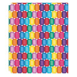 """Office Depot® Brand Fashion 2-Pocket Poly Folder, 8-1/2"""" x 11"""", Gems"""