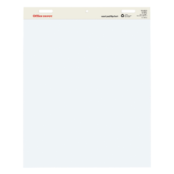 "Office Depot® Brand Standard Easel Pads, 34"" x 27"", 30% Recycled, White, Pack of 1"