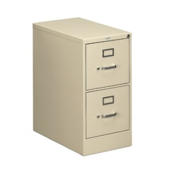 """HON® 510 25""""D Vertical 2-Drawer File Cabinet, Metal, Putty"""