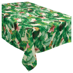 "Amscan Fabric Table Cover, 60"" x 104"", Tropical Jungle"
