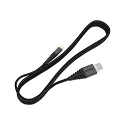 OtterBox Lightning Connector to USB Cable - 3.28 ft Lightning/USB Data Transfer Cable for iPhone, iPad - First End: 1 x Lightning Male Proprietary Connector - Second End: 1 x USB Male USB - MFI - Black