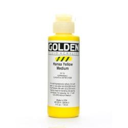 Golden Fluid Acrylic Paint, 4 Oz, Hansa Yellow Medium