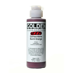 Golden Fluid Acrylic Paint, 4 Oz, Quinacridone Burnt Orange