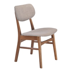 Zuo Modern Midtown Dining Chairs, Gray, Set Of 2 Chairs