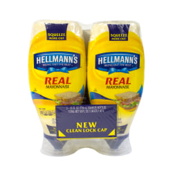 Hellmann's Real Mayonnaise, 25 Oz Bottle, Pack Of 2