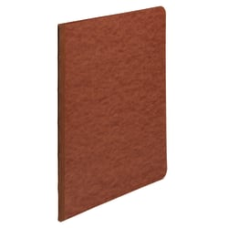 """ACCO® Pressboard Report Cover With Fastener, Side Bound, 8 1/2"""" x 8 1/2"""", 60% Recycled, Earth Red"""