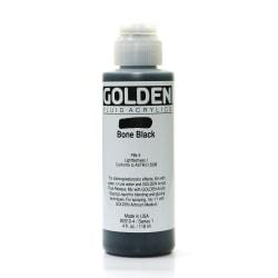 Golden Fluid Acrylic Paint, 4 Oz, Bone Black