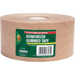 "Duck Brand Brand 375' Reinforced Gummed Tape Roll - 125 yd Length x 2.75"" Width - Kraft - Kraft Paper Backing - 8 / Carton - Brown"