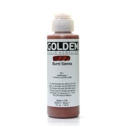Golden Fluid Acrylic Paint, 4 Oz, Burnt Sienna
