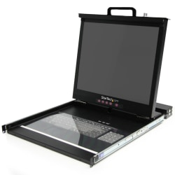 "StarTech.com 1U 19"" Rackmount LCD Rack Console w/ 16 Port KVM - 16 Computer(s) - 19 Active Matrix TFT LCD - 16 x DB-15 Keyboard/Mouse/Video - 1U Height"