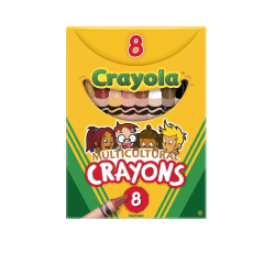 Crayola® Multicultural Crayons, Assorted Colors, Box Of 8 Crayons