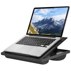 "LapGear Ergo Lap Desk, 3.1""H x 14.1""W x 10.5""D, Black"