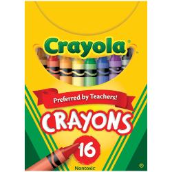 Crayola® Standard Crayons, Assorted Colors, Box Of 16 Crayons
