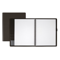 """Office Depot® Brand Premium Folio Notebook, 8 1/2"""" x 11"""", 1 Subject, Narrow Ruled, 120 Pages (60 Sheets), Black"""
