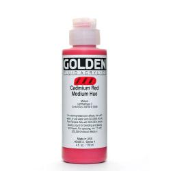 Golden Fluid Acrylic Paint, 4 Oz, Cadmium Red Medium Hue