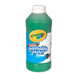 Crayola® Washable Paint, Green, 16 Oz