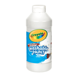 Crayola® Washable Paint, White, 16 Oz