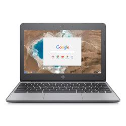 "HP Chromebook 11-v010nr Laptop, 11.6"" HD Screen, Intel® Celeron® N3060, 4GB Memory, 16GB Solid State Drive, Chrome OS™"