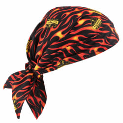 Ergodyne Chill-Its 6710 Evaporative Cooling Triangle Hats, Flames, Case Of 24 Hats