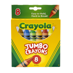 Crayola® So Big™ Crayons, Extra Large, Assorted Colors, Box Of 8 Crayons