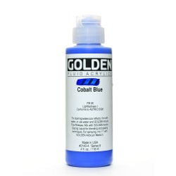 Golden Fluid Acrylic Paint, 4 Oz, Cobalt Blue