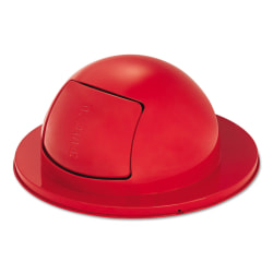 """Rubbermaid® Commercial Towne Series Steel Dome-Top Waste Receptacle Lid, 12"""" x 25"""", Red"""