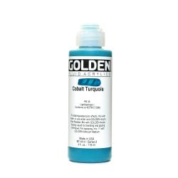 Golden Fluid Acrylic Paint, 4 Oz, Cobalt Turquoise