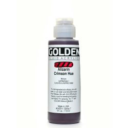Golden Fluid Acrylic Paint, 4 Oz, Historical Alizarin Crimson Hue