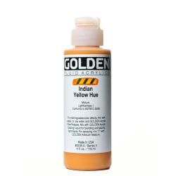 Golden Fluid Acrylic Paint, 4 Oz, Historical Indian Yellow Hue