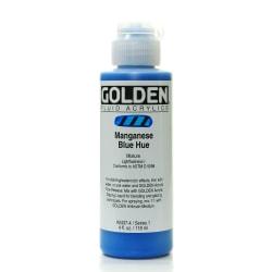 Golden Fluid Acrylic Paint, 4 Oz, Historical Manganese Blue Hue